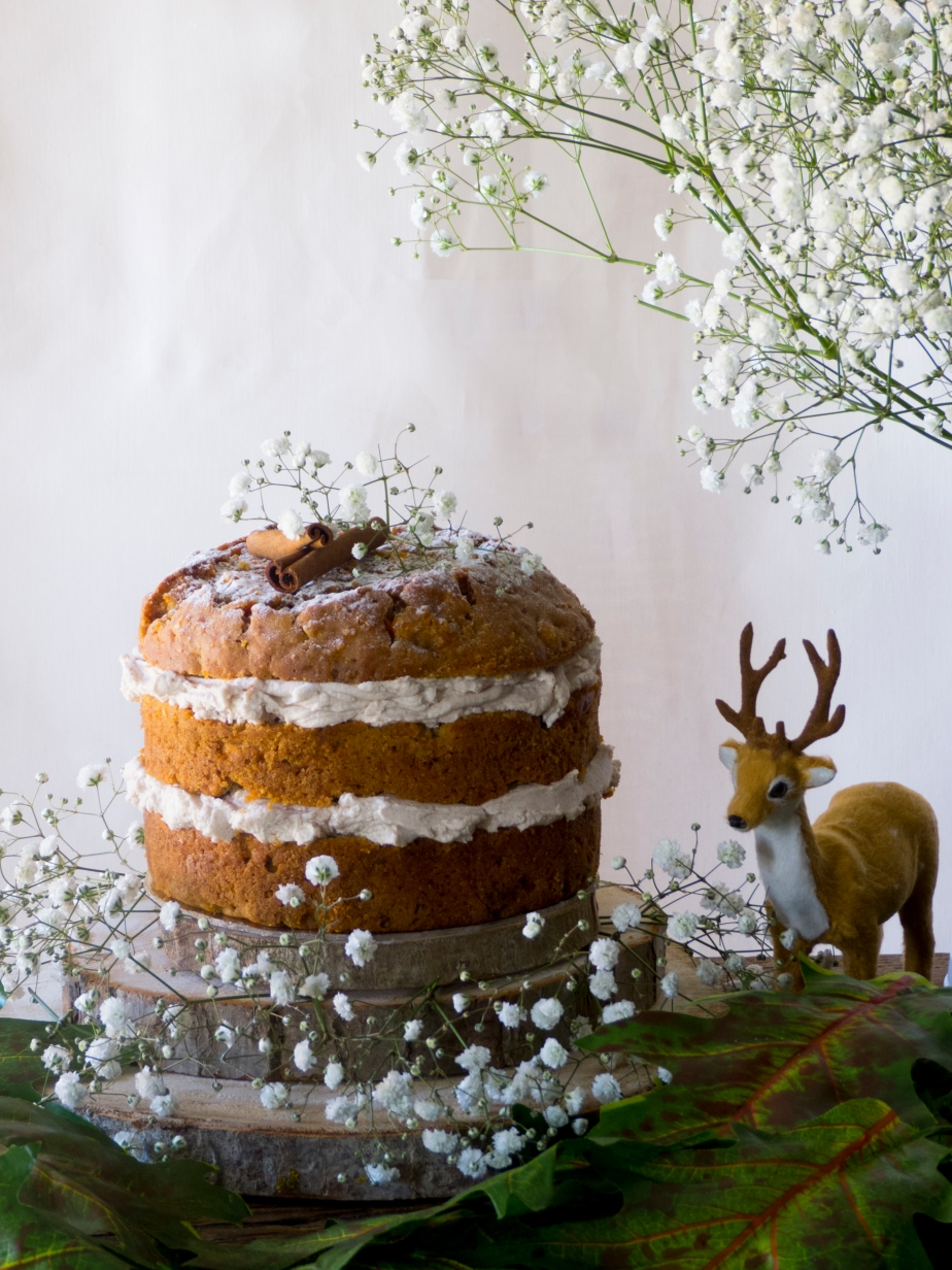 NUDE CAKE DE ZANAHORIA CON CREMA DE QUESO CANELA YARCE